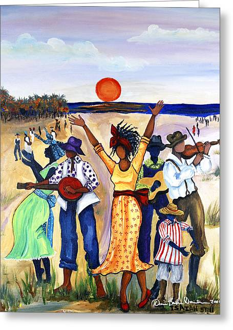 Ethnic Greeting Cards - Songs of Zion Greeting Card by Diane Britton Dunham