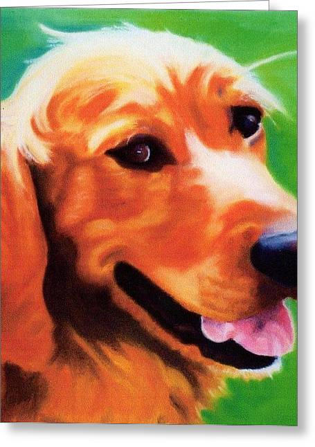 Photo-realism Pastels Greeting Cards - Sonny Greeting Card by Danette Malerich