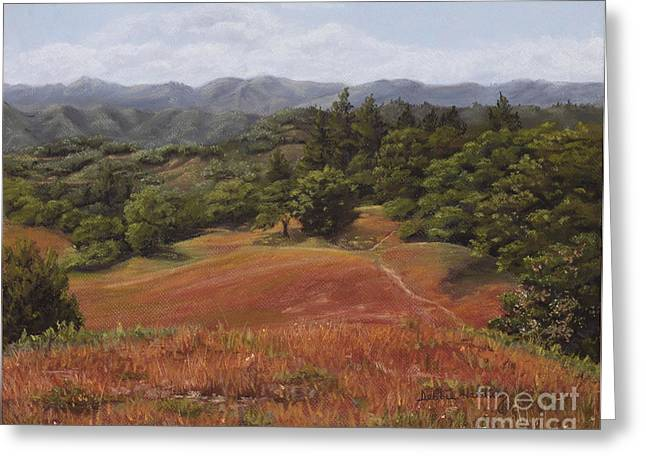 Sonoma County Pastels Greeting Cards - Sonoma Roan Greeting Card by Debbie Harding