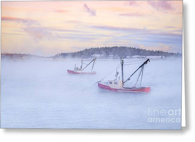 Coastal Maine Greeting Cards - Soon As The Morning Comes Greeting Card by Evelina Kremsdorf
