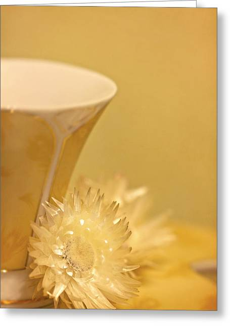 Cup Photographs Greeting Cards - Soothing Greeting Card by Evelina Kremsdorf
