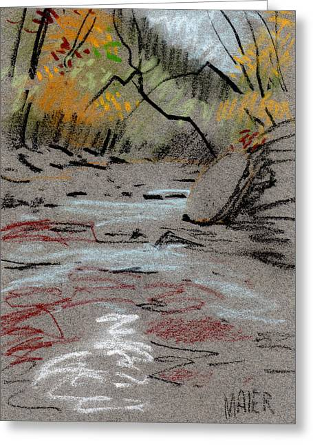 Sketch Greeting Cards - Sope Creek Minimal Greeting Card by Donald Maier