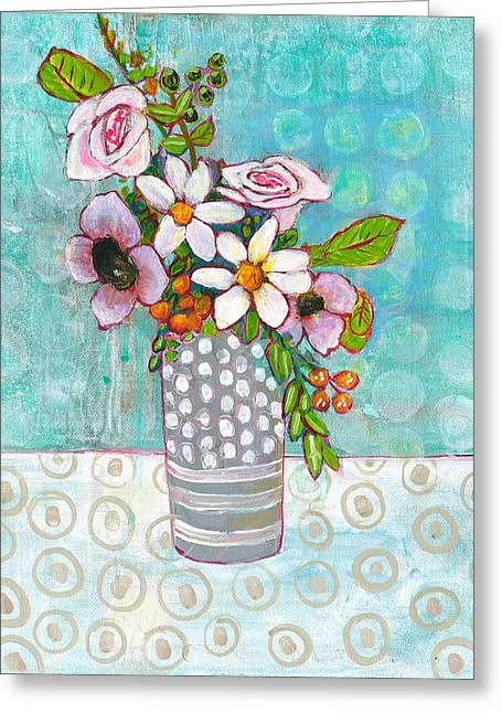 Sophia Daisy Flowers Greeting Card by Blenda Studio