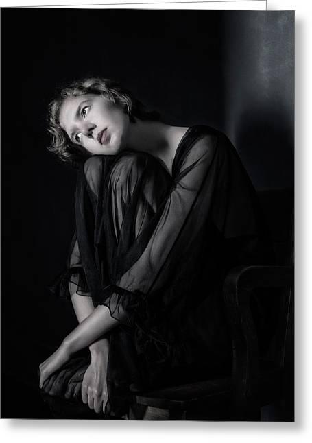 Portrait Greeting Cards - Sophia Greeting Card by Derek Galon