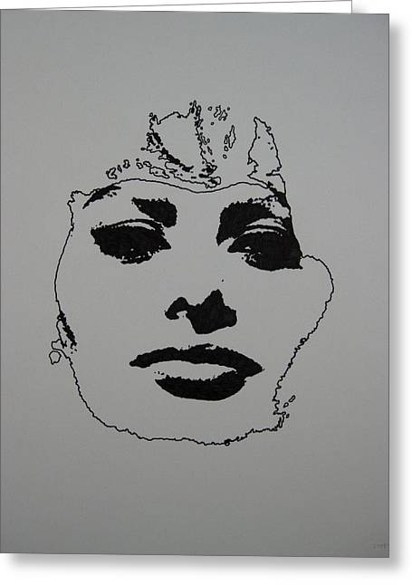 Sophia Loren Portrait Greeting Cards - Sophia Greeting Card by Lynet McDonald