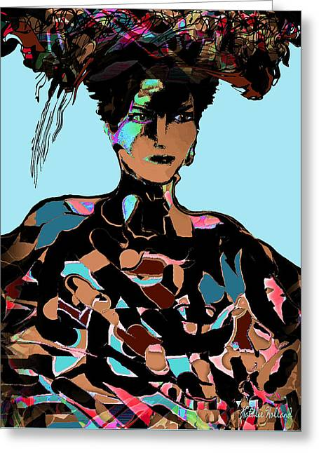 High Society Mixed Media Greeting Cards - Sophisticated Woman Greeting Card by Natalie Holland
