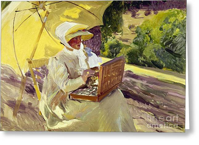 1907 Greeting Cards - Sorolla: Painter, 1907 Greeting Card by Granger