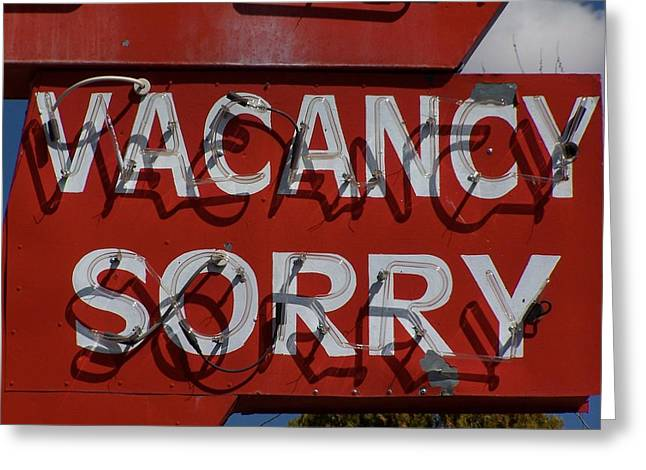 Roadside Art Greeting Cards - Sorry Greeting Card by David Gianfredi