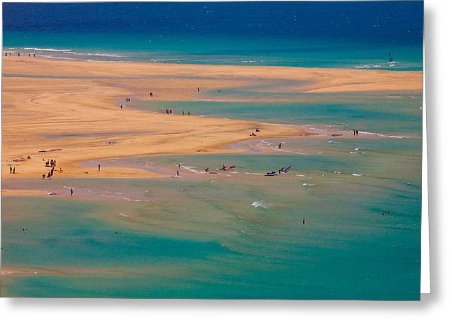 Windsurfer Greeting Cards - Sotovento Beach Greeting Card by Neil Buchan-Grant
