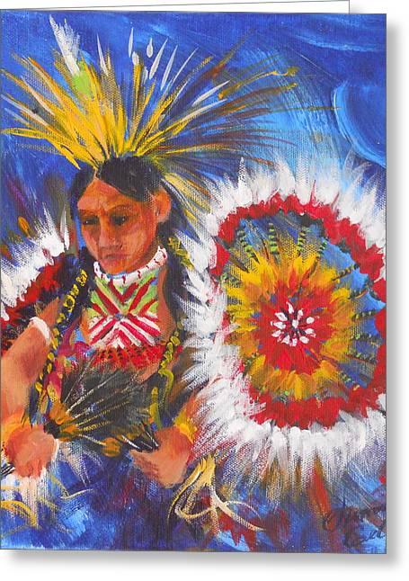 Summer Celeste Greeting Cards - Souix Dancer Greeting Card by Summer Celeste