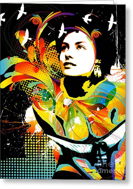 Figures Mixed Media Greeting Cards - Soul Explosion II Greeting Card by Chris Andruskiewicz