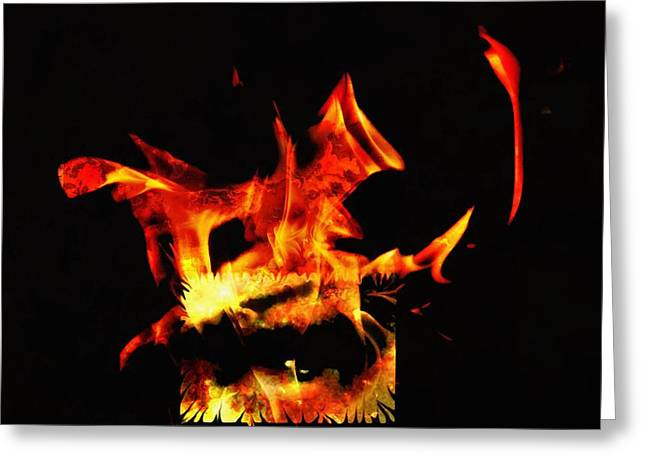 Eyebrow Greeting Cards - Soul on fire Greeting Card by Frances Lewis