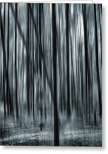 Mystic Photographs Greeting Cards - Soul Searching Greeting Card by Lourry Legarde