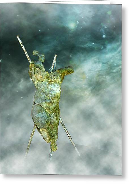 Human Figure Sculptures Sculptures Greeting Cards - Soul Shard art  I  fact Greeting Card by Ede Ericson Cardell