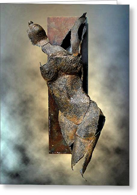 Human Figure Sculptures Sculptures Greeting Cards - Soul Shard Awakening Greeting Card by Ede Ericson Cardell
