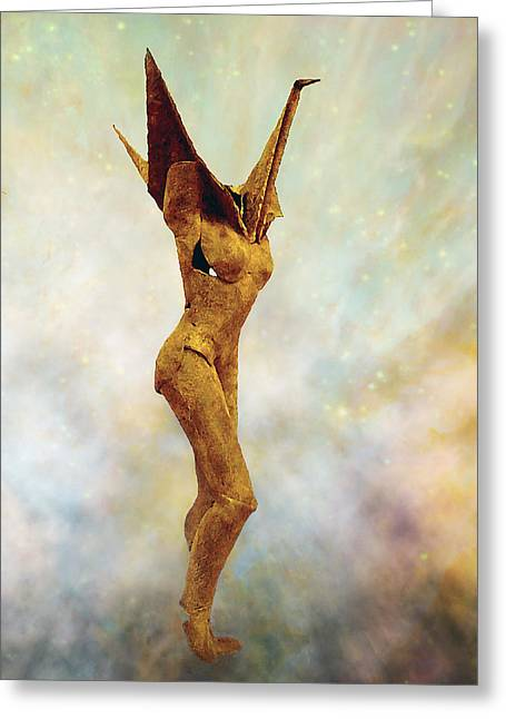 Human Figure Sculptures Sculptures Greeting Cards - Soul Shard Sadako Greeting Card by Ede Ericson Cardell