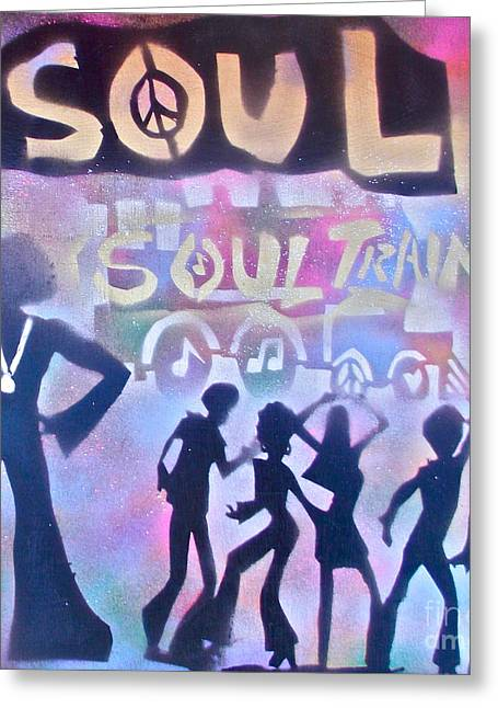Soul Train 1 Greeting Card by Tony B Conscious