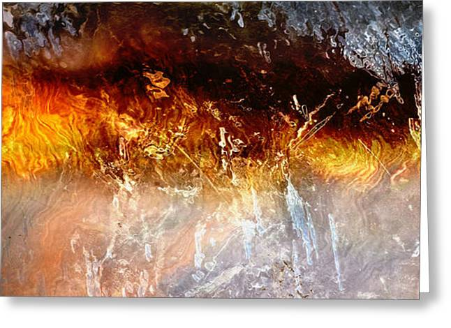 Print On Canvas Greeting Cards - Soul Wave - Abstract Art Greeting Card by Jaison Cianelli