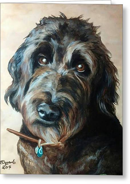 Chocolate Lab Greeting Cards - Soulful Eyes Greeting Card by Nicole Oquendo