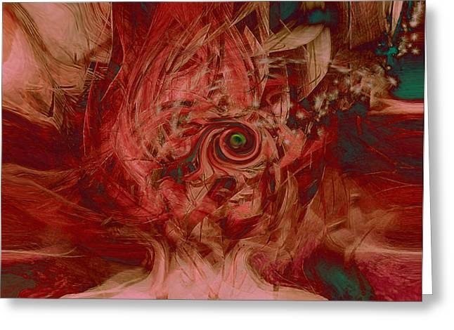 Abstract Expression Greeting Cards - Sound and Vision Greeting Card by Linda Sannuti