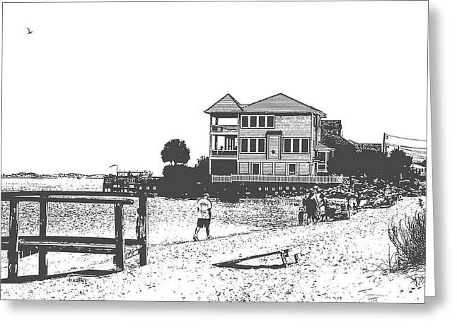 Topsail Island Greeting Cards - Sound Greeting Card by Betsy A  Cutler