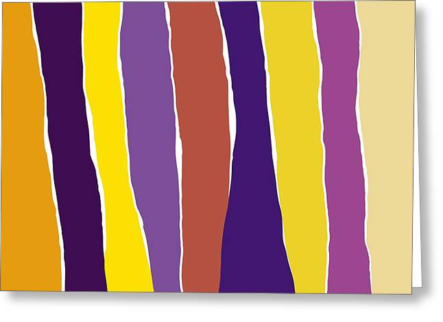 Abstract Shapes Greeting Cards - Sound of Colors Greeting Card by Patric Mouth