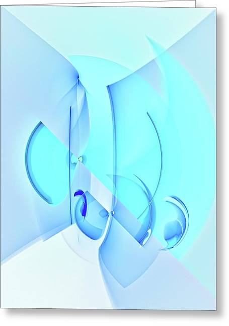 Noise . Sounds Digital Greeting Cards - Sound of Raindrops Greeting Card by Burtram Anton