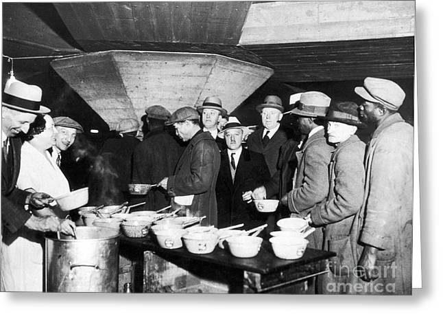Slum Greeting Cards - Soup Kitchen, 1931 Greeting Card by Granger