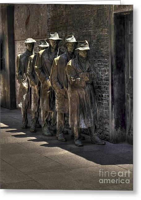 Soup Lines Greeting Card by David Bearden