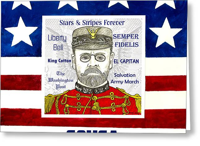 March Drawings Greeting Cards - Sousa Greeting Card by Paul Helm