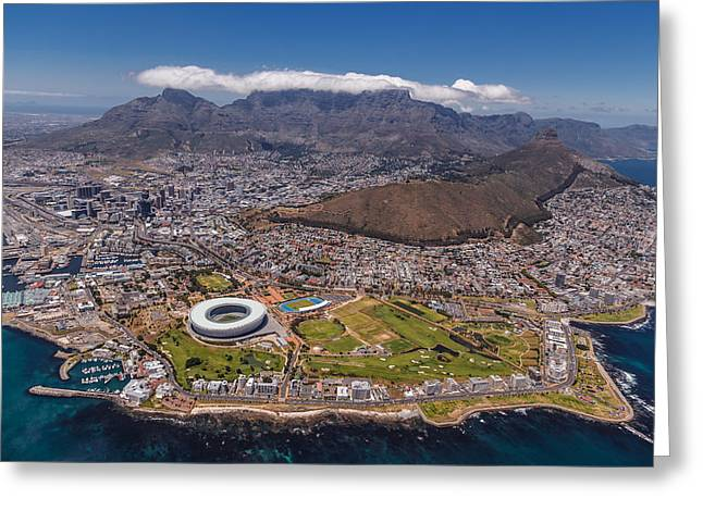 Cape Town Greeting Cards - South Africa - Cape Town Greeting Card by Michael Jurek