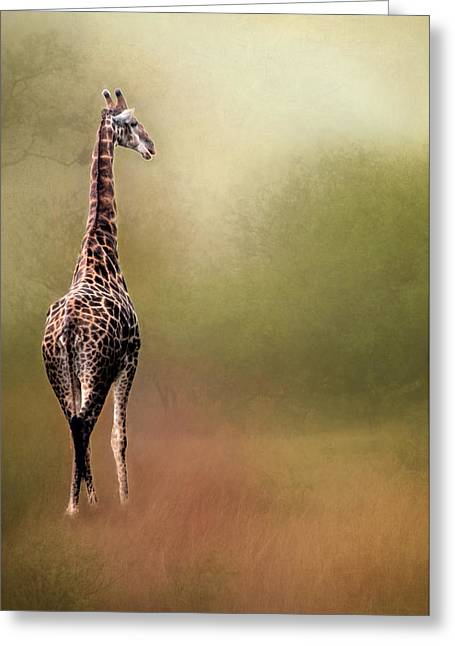 Print Photographs Greeting Cards - South African Giraffe Greeting Card by Maria Coulson