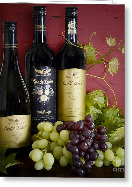 Wine Scene Greeting Cards - South Australian Wine Greeting Card by Milleflore Images