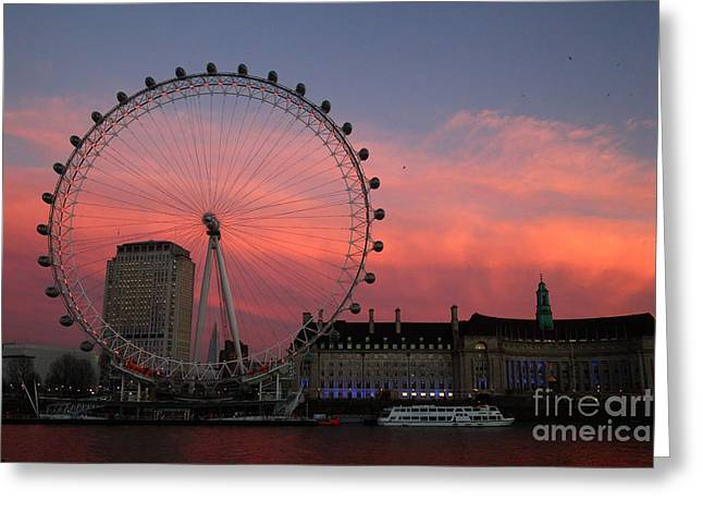 South Bank Sunset London Greeting Card by James Brunker