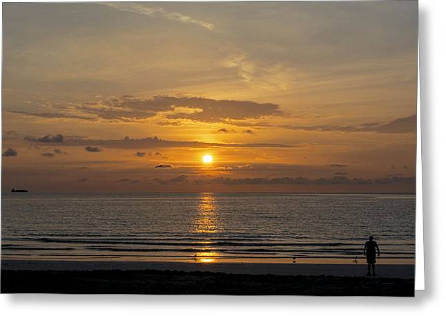 Fineartamerica Greeting Cards - South Beach 2748 Greeting Card by Steve Lipson