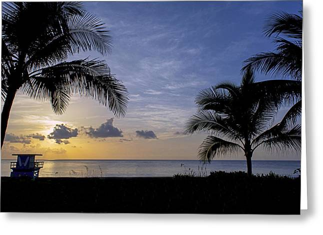 Ocean Landscape Greeting Cards - South Beach 4338 Greeting Card by Steve Lipson
