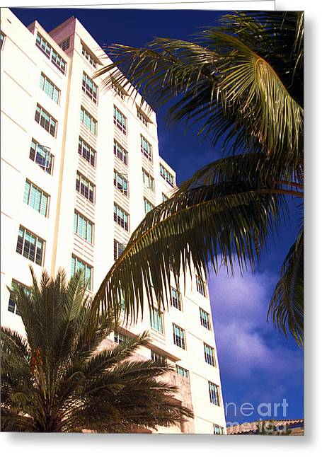 Happening Greeting Cards - South Beach Art Deco District Greeting Card by Thomas R Fletcher