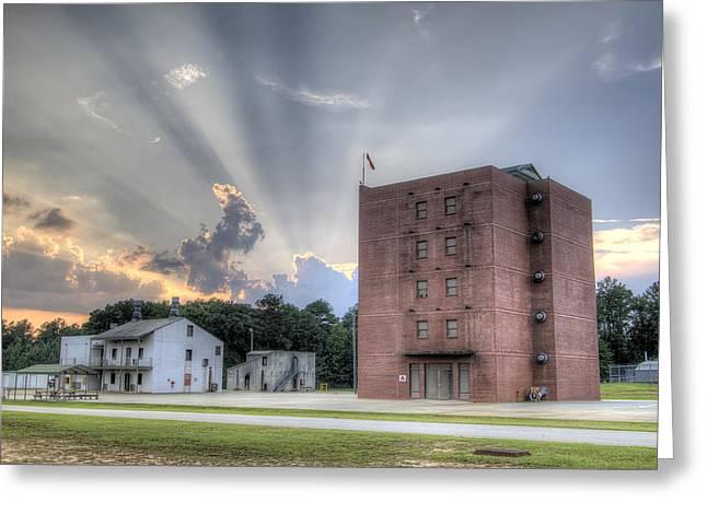 South Carolina Fire Academy Tower Greeting Card by Dustin K Ryan