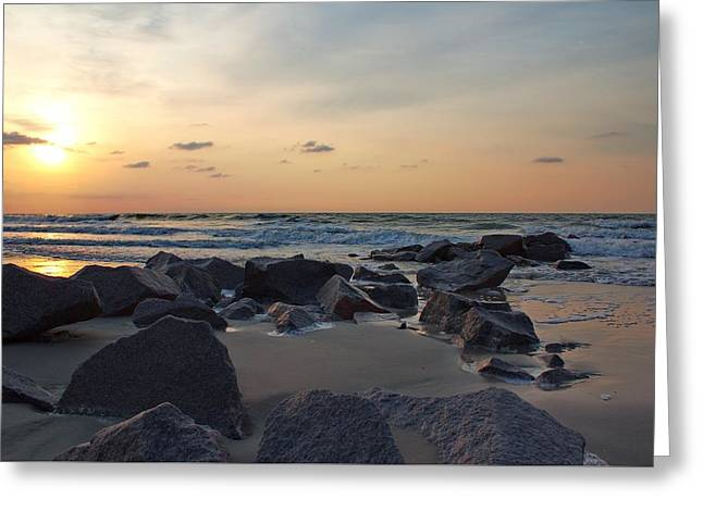 Featured Art Greeting Cards - South Carolina Sunrise Greeting Card by Brian Hamilton