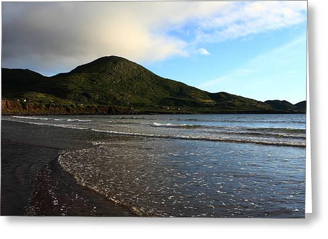 Blue Green Wave Greeting Cards - South Coast Of Ireland Greeting Card by Aidan Moran