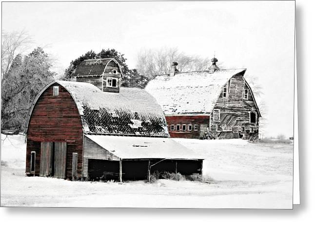 Iowa Greeting Cards - South Dakota Farm Greeting Card by Julie Hamilton