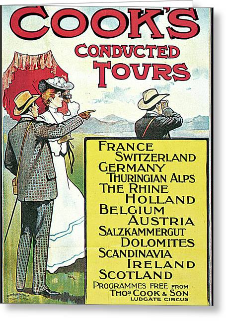South Eastern And Chatham Railway Cooks Conducted Tours Greeting Card by Dennis Fitzsimmons