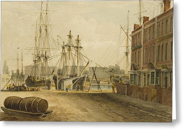 South End Of Prince's Street Greeting Card by Thomas Leeson the Elder Rowbotham