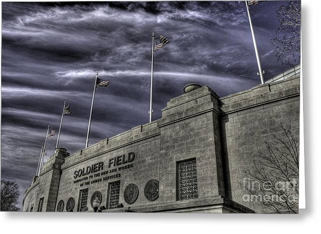 South End Soldier Field Greeting Card by David Bearden