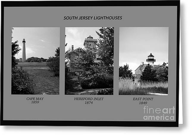 Ocean Art Photos Greeting Cards - South Jersey Lighthouses Greeting Card by Skip Willits