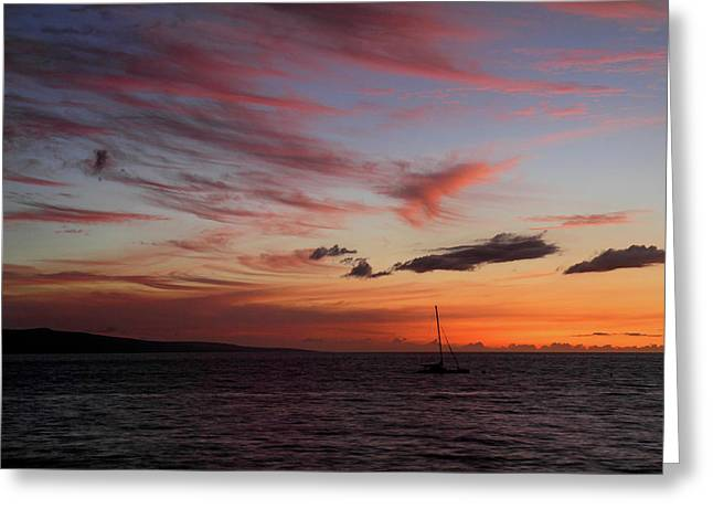 ; Maui Greeting Cards - South Kihei sunset Greeting Card by Pierre Leclerc Photography