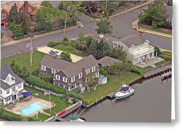 Duncan Pearson Greeting Cards - South Lagoon House Mantoloking New Jersey Greeting Card by Duncan Pearson