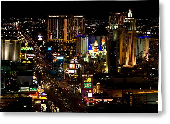Digital Photography Greeting Cards - South Las Vegas Strip Greeting Card by James Marvin Phelps