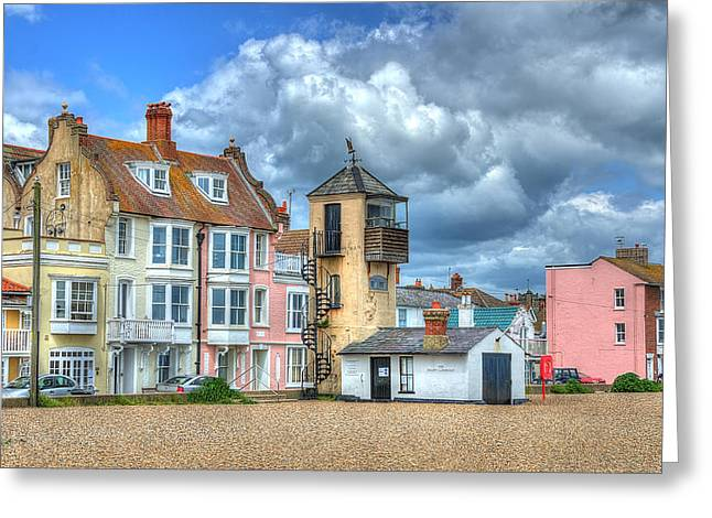 Aldeburgh Greeting Cards - South Lookout Tower Aldeburgh Greeting Card by Chris Thaxter