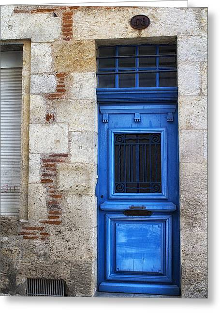 South West France Greeting Cards - South of France Bright Blue Door Greeting Card by Nomad Art And  Design
